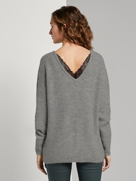Jumper with lace insert - 2 - TOM TAILOR Denim