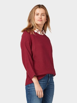 Jumper with striped structure - 5 - TOM TAILOR