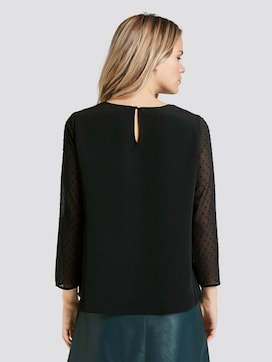 Blouse with lace insert - 2 - TOM TAILOR Denim