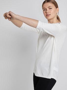 Shirt with stripe pattern - 5 - TOM TAILOR Denim