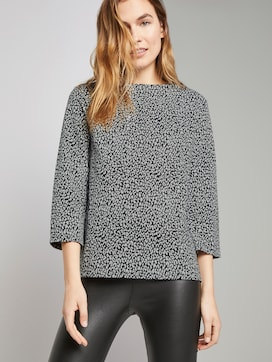 Sweatshirt mit Leo-Print - 5 - TOM TAILOR