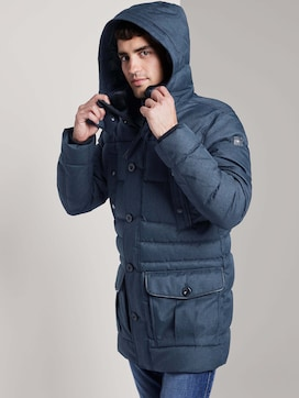 Quilted parka with detachable hood - 5 - TOM TAILOR