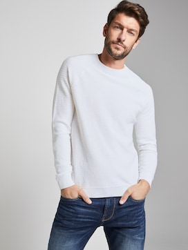 structured knitted jumper - 5 - TOM TAILOR