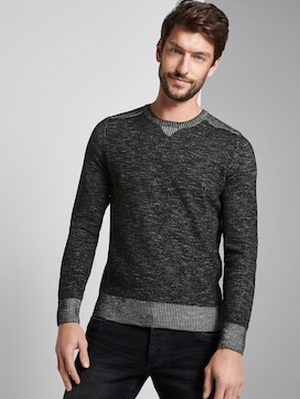 knitted jumper in blended look - 5 - TOM TAILOR