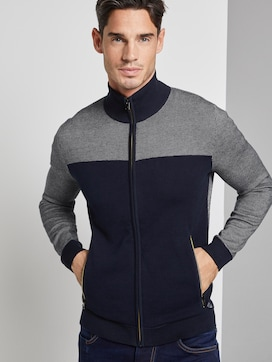 Structured knitted jacket - 5 - TOM TAILOR