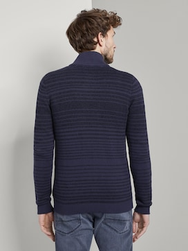 striped knitted jacket - 2 - TOM TAILOR