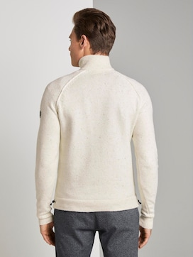 Knitted jumper with stand-up collar - 2 - TOM TAILOR