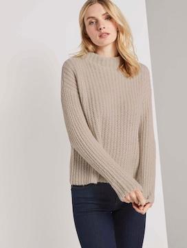 Sweatshirt met textuur - 5 - TOM TAILOR
