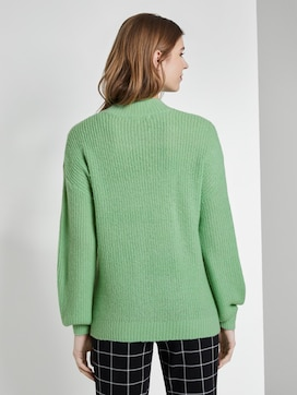 Knitted jumper with ajour structure - 2 - TOM TAILOR Denim