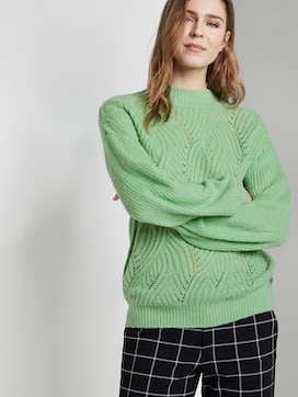 Knitted jumper with ajour structure - 5 - TOM TAILOR Denim