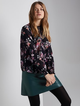 Blouse with lace detail - 5 - TOM TAILOR Denim
