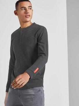 Henley long-sleeved shirt with print - 5 - TOM TAILOR Denim