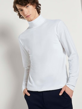 Long-sleeved shirt with turtleneck - 5 - TOM TAILOR Denim