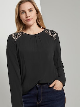 Bluse mit Spitzendetail - 5 - Tom Tailor E-Shop Kollektion