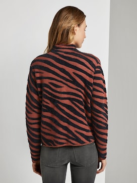 Toni Garrn: Strickpullover in Jacquardoptik - 2 - TOM TAILOR