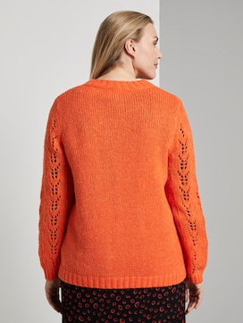 Knitted jumper with plait pattern - 2 - My True Me