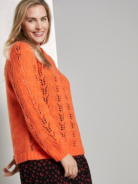 Knitted jumper with plait pattern - 5 - My True Me