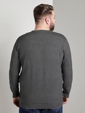 Strukturierter gestreifter Pullover - 2 - Men Plus