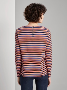 Gestreept shirt met lange mouwen - 2 - TOM TAILOR