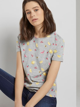 T-Shirt mit Print - 5 - TOM TAILOR