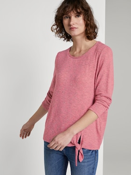 T-shirt mit Knotendetail - 5 - TOM TAILOR