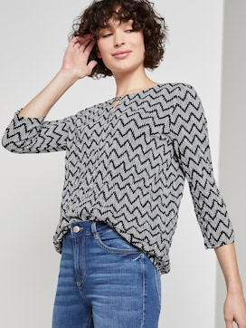 Crincle-Shirt mit Allover-Print - 5 - TOM TAILOR