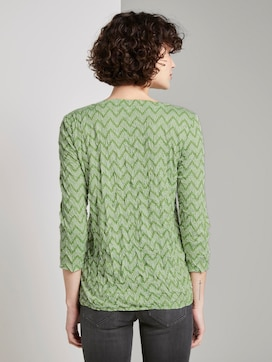 Crincle-Shirt mit Allover-Print - 2 - TOM TAILOR