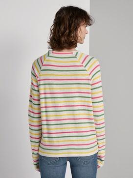 Gestreept shirt met lange mouwen uit jersey - 2 - TOM TAILOR