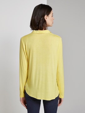 Blouse top with a decorative button tab - 2 - TOM TAILOR