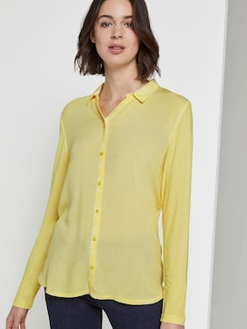 Blouse top with a decorative button tab - 5 - TOM TAILOR