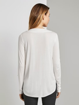 Blouse shirt met V-hals - 2 - TOM TAILOR