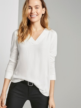 Blouse shirt met V-hals - 5 - TOM TAILOR