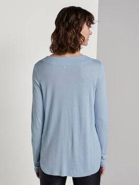 Blouse shirt with V-neckline - 2 - TOM TAILOR