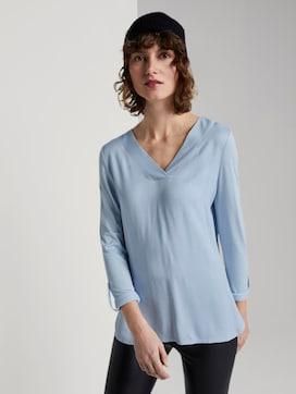 Blouse shirt with V-neckline - 5 - TOM TAILOR