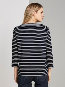 Gestreiftes Ottoman Sweatshirt - 2 - TOM TAILOR