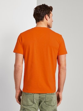 Mottled T-shirt with organic cotton - 2 - TOM TAILOR