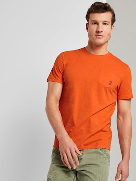 Mottled T-shirt with organic cotton - 5 - TOM TAILOR