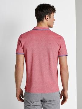 Poloshirt in Two-Tone Optik - 2 - TOM TAILOR