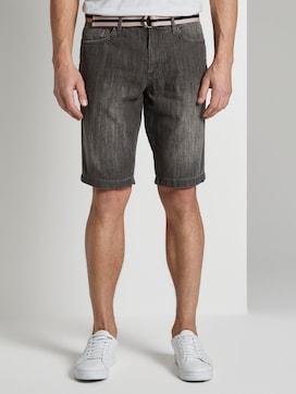 Josh regular slim denim shorts with a belt - 1 - TOM TAILOR