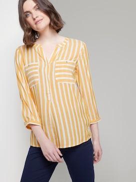 Gestreepte blouse met zakken - 5 - TOM TAILOR