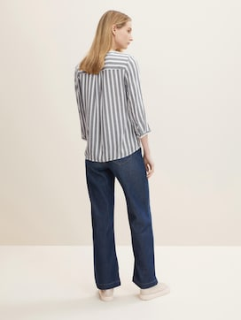 Striped blouse with pockets - 2 - TOM TAILOR