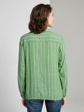 Gestreepte blouse met kraag - 2 - TOM TAILOR
