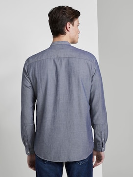 textured shirt with a stand-up collar - 2 - TOM TAILOR Denim