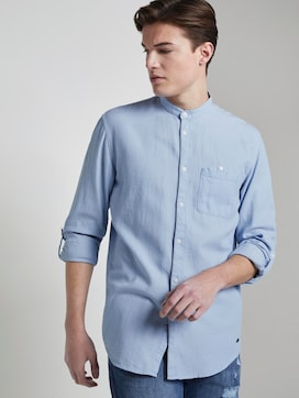 textured shirt with a stand-up collar - 5 - TOM TAILOR Denim