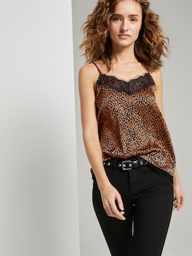 Camisole top with lace detail - 5 - TOM TAILOR Denim