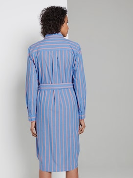 Striped shirt dress with a belt - 2 - Tom Tailor E-Shop Kollektion