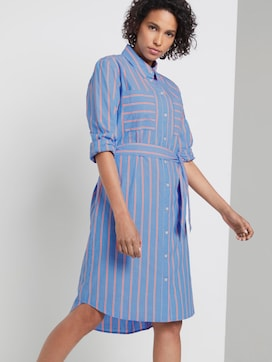 Striped shirt dress with a belt - 5 - Tom Tailor E-Shop Kollektion