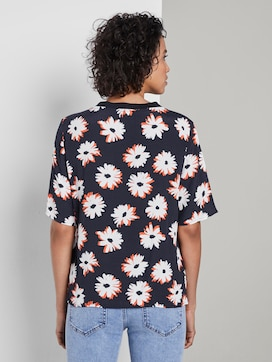 T-Shirt mit Blumenmuster - 2 - Tom Tailor E-Shop Kollektion