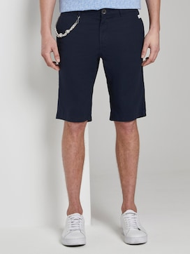 Chino shorts with a drawstring   - 1 - TOM TAILOR