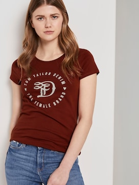 Jersey T-Shirt mit Print - 5 - TOM TAILOR Denim